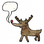 picture of rudolf  - cartoon rudolf - JPG