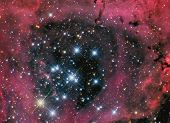 image of rosette  - astronomy night sky telescope stars nebula galaxy - JPG