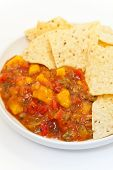 picture of chipotle  - Delicious Peach Mango Salsa with chipotle Chips - JPG