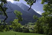 picture of hitler  - View of Bavarian village and mountains near Berchtesgaden on the way to the Hitler - JPG