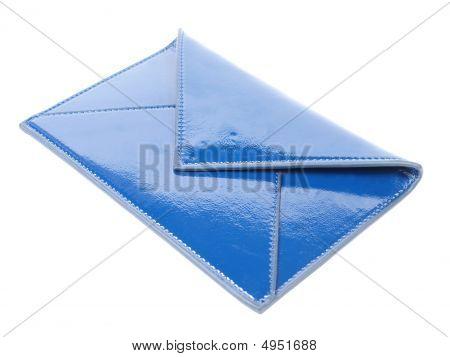 Blue Leather Envelope
