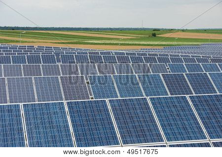 Solar Panels in country field