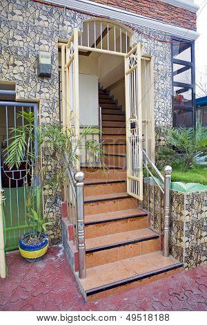 Doorway In Tropics
