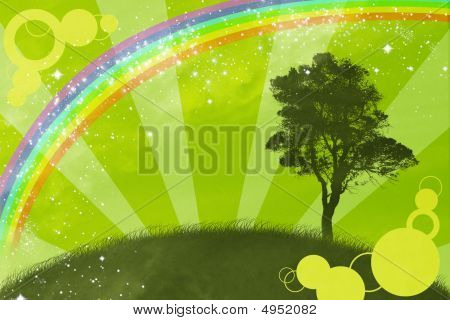 The Springtime.the Abstract Background.