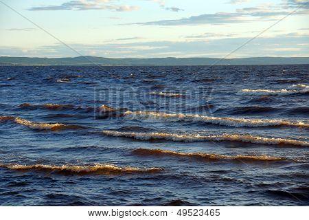 Wavy Lake Landscape