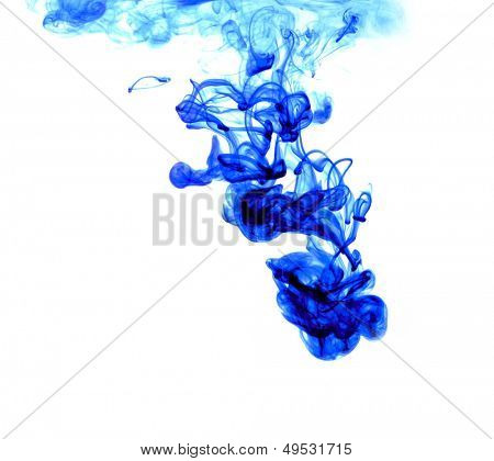 blue ink spreading in the water