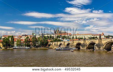 View Of Charles Bridge And Prague Castle