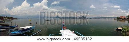 Philippines Taal Volcano And Lake