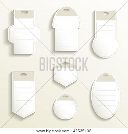 Label paper 3D vector ticket card