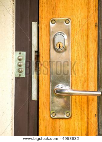 A Modern Day Lock On A Front Door