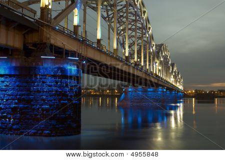 Railway Bridge Over River