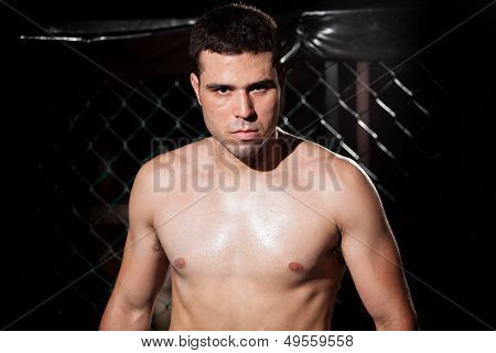 MMA Fighter up close