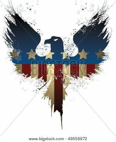 Grunge American Eagle flag