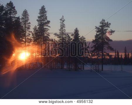 Sunset In Arctic