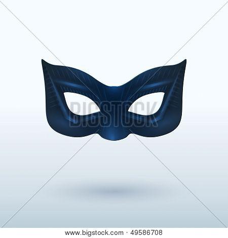 Black Leather Mask for Superhero.