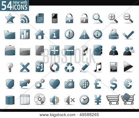 Cold Gray Web Icons
