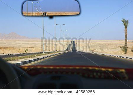 Sharm el Sheikh Ägypten Ansicht durch Taxi Windschutzscheibe
