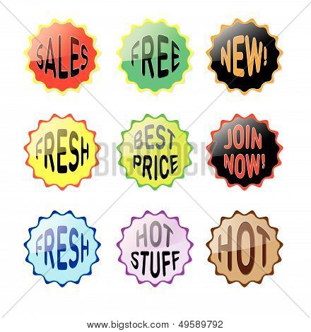 Wobbler, Star for Supermarket, packaging and advertising