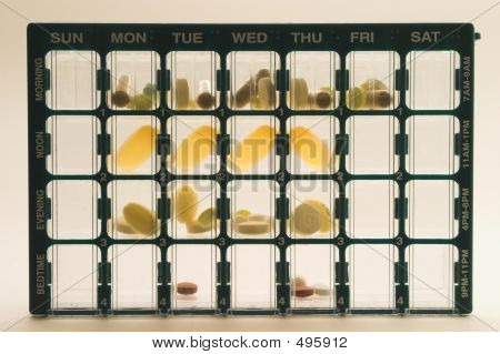 Daily Medicine Dose Organizer Pillbox Backlighted