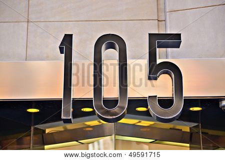 Building address number 105.