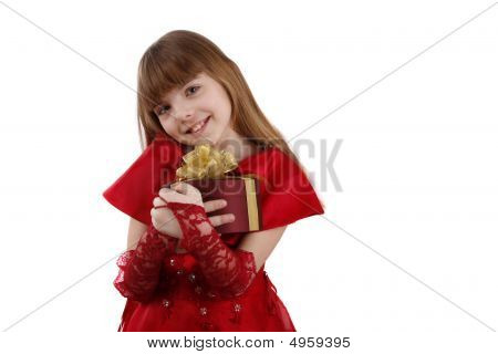 Little Girl With Gift.