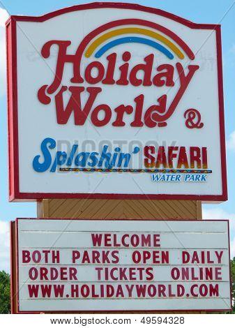Holiday World & Splashin' Safari Sign