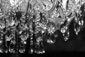 stock photo of curves  - Chrystal chandelier close - JPG