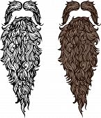pic of barber  - Vector illustration of fake beard and mustache - JPG