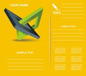 pic of orthogonal  - Modern Brochure design with orthogonal rhomb symbols - JPG
