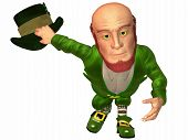 stock photo of saint patricks day  - 3 D Render of an Toon Leprechaun - JPG