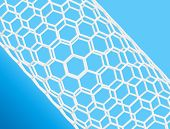 image of nanotube  - Nanotube structure on blue background - JPG