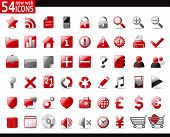 stock photo of home is where your heart is  - 54 Red Web Icons for your internet sites - JPG