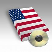 picture of usa flag  - One book with the American flag printed - JPG