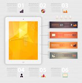 image of line graph  - Business infographic template - JPG