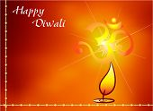 stock photo of swastik  - Aum The Holy Motif Diwali Design - JPG