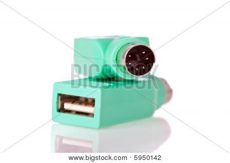 USB to PS2 plug adaptor