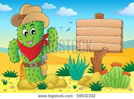 Cactus theme image 5 - eps10 vector illustration.