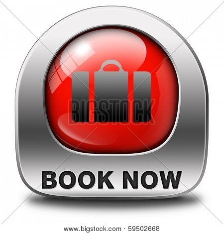 book now online ticket for flight holliday or vacation red icon