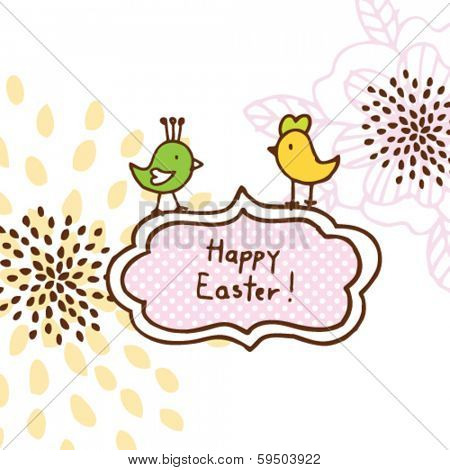 Easter card - unique design for greeting card happy easter card
