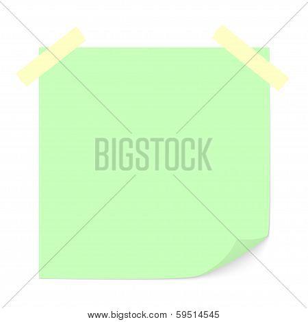 Green stick note.