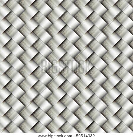 wickerwork metal pattern background