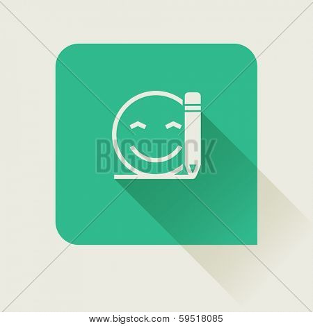 write customer feedback flat vector icon