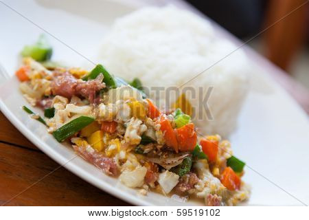 Stir-fried Vegetables And Rice
