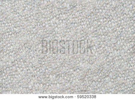 White Iridescent Bead Background