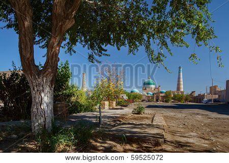 Ancient city of Khiva at sunny day, Uzbekistan