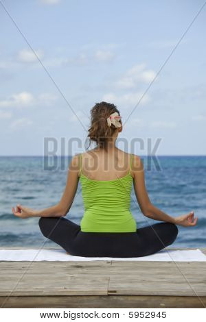 Yoga Pose On The Beach