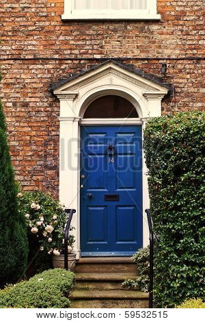 Beautiful Georgian House Doorway In The Uk
