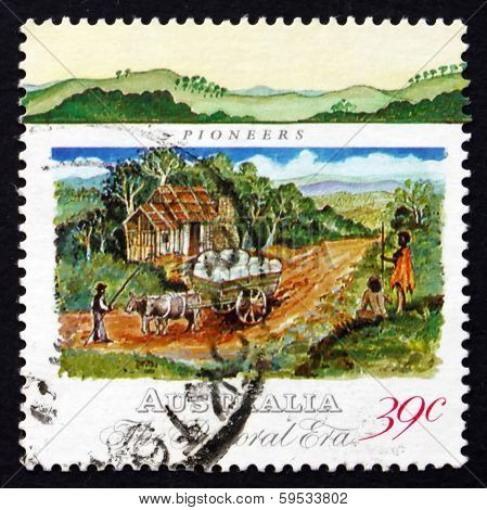 Postage Stamp Australia 1989 Pioneer's Hut And Wool Bales