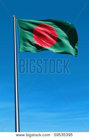 Bangladesh flag waving on the wind