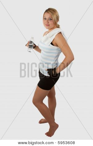 Woman in workout attire